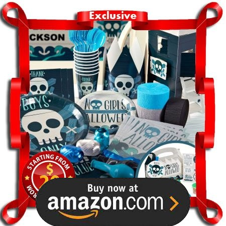 Boys Only Bash Party Supplies