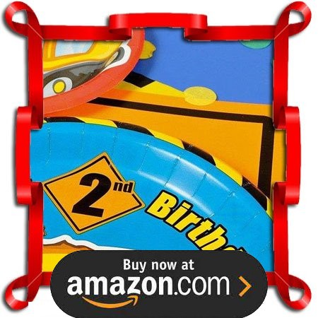 Construction Pals 2nd Birthday Party Supplies