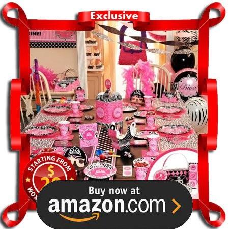Diva Zebra Print Party Supplies