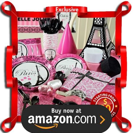 Paris Damask Party Supplies