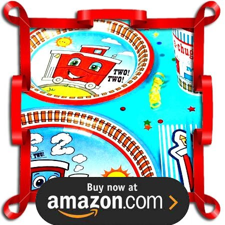 Two Two Train 2nd Birthday Party Supplies
